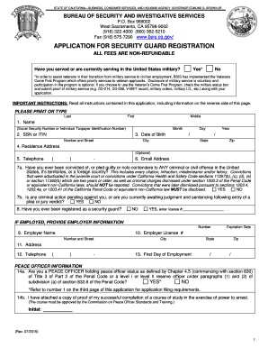 security guard employment application template edit print