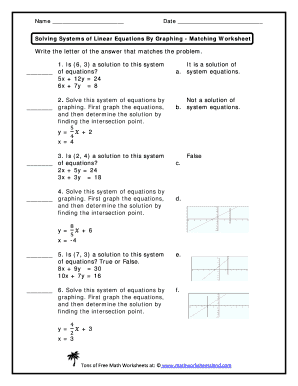 Fillable Online Solving Systems of Linear Equations by