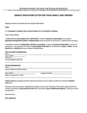 Fillable online ct nursing home transportation request form ct sample invitation letter isss university of connecticut isss uconn stopboris Choice Image