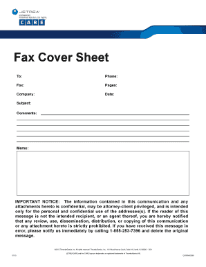 Charming Fax Cover Sheet   Jetrea Care