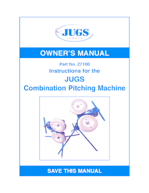 OWNERS MANUAL JUGS Combination Pitching - JUGS Sports