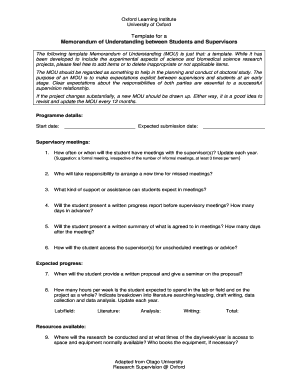 Fillable memorandum of understanding template word edit online memorandum of understanding between students and supervisors spiritdancerdesigns Image collections
