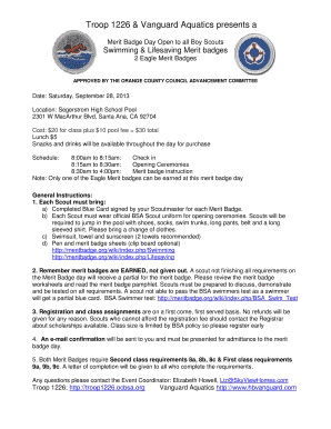 Fillable Online Troop 1226 Amp Huntington Beach Water Polo Orange County Council Fax Email Print Pdffiller