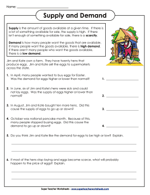 Printables Supply And Demand Worksheet fillable online supply and demand super teacher worksheets fax fill online
